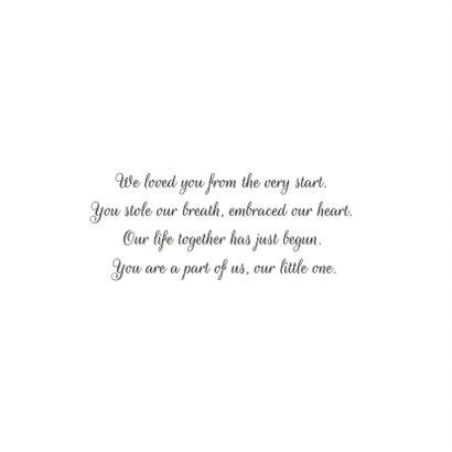Dankeskarte zur Geburt Holzlook Herz mit Foto  2