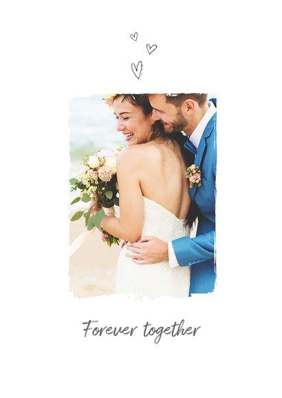 Dankeskarte zur Hochzeit Blumenornamente 2