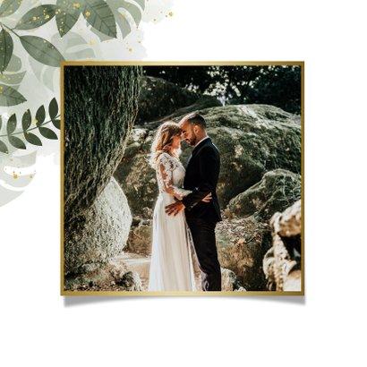 Dankeskarte zur Hochzeit botanisch mit Foto und Wasserfarbe 2