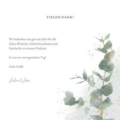 Dankeskarte zur Hochzeit Eukalyptus & Foto 3
