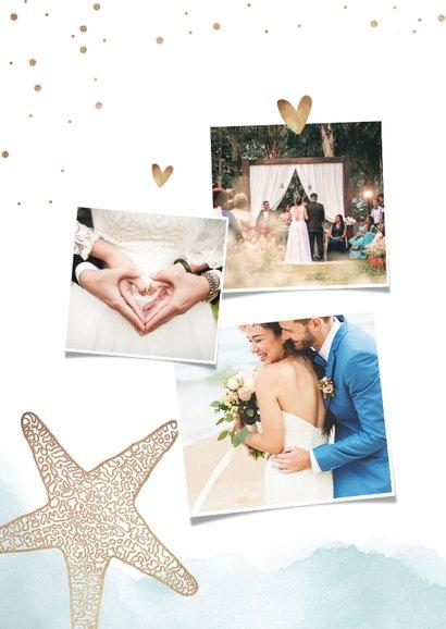 Dankeskarte zur Hochzeit Strandfeeling mit Foto 2
