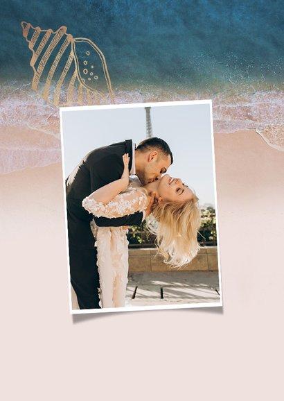 Dankeskarte zur Hochzeit Strandsommer 2