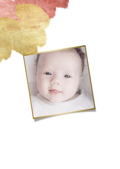 Dankeskarte zur Taufe Foto metallic rosé 2