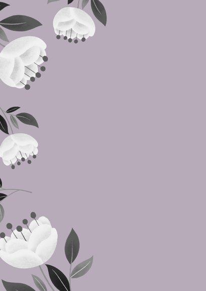 Danksagung Diamantene Hochzeit weiße Blumen 2