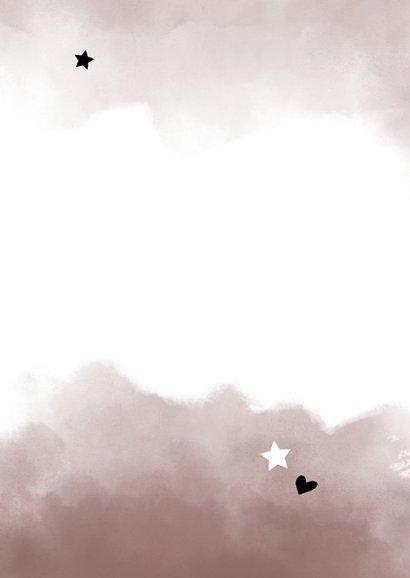 Danksagung Geburt eigenes Foto rosa Wasserfarbe Rückseite