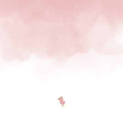 Danksagung Geburt Elefant rosa Foto innen Rückseite