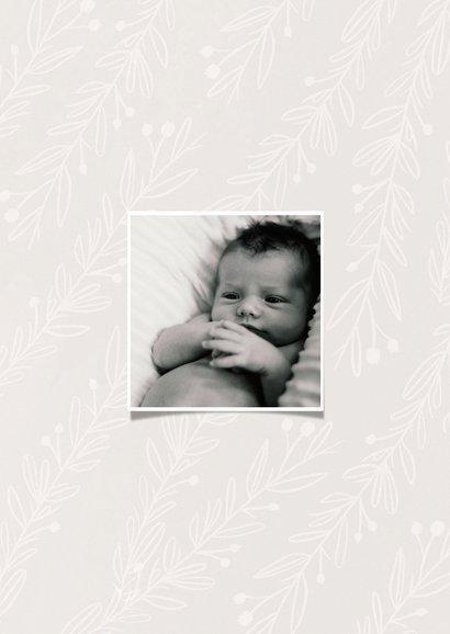 Danksagung Geburt Fotocollage und kleine Zweige 2