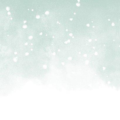 Danksagung Geburt grün eigenes Foto & Schnee Rückseite