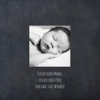 Danksagung Geburt Junge Kreide Scherenschnitt 2