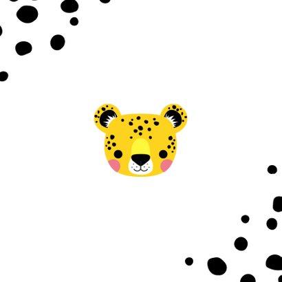 Danksagung Geburt Leopardenjunge Foto innen Rückseite
