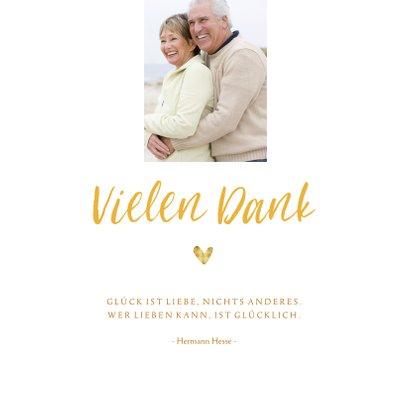 Danksagung Goldene Hochzeit Foto & Herz 2