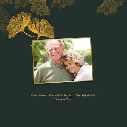 Danksagung Goldene Hochzeit Ginkgoblätter 2