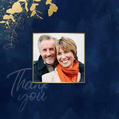 Danksagung Goldene Hochzeit 'Thank you' 2