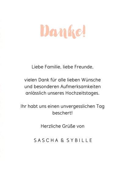 Danksagung Hochzeitsjubiläum Foto & Tupfen 3