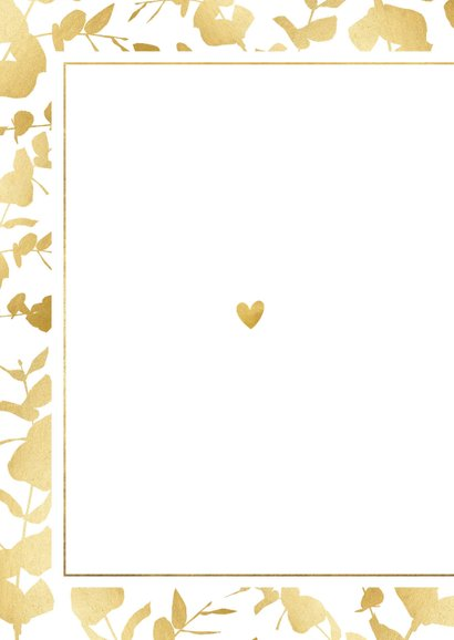 Danksagung Hochzeitstag Foto & Goldblätter 2