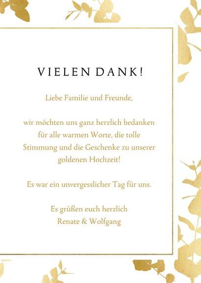 Danksagung Hochzeitstag Foto & Goldblätter 3