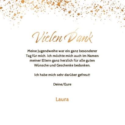 Danksagung Jugendweihe Goldsprenkel Fotos 3