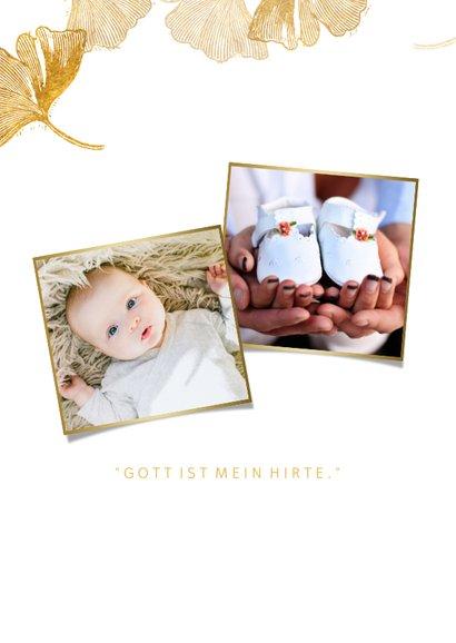 Danksagung Taufe Foto & Ginkgo Stempel 2