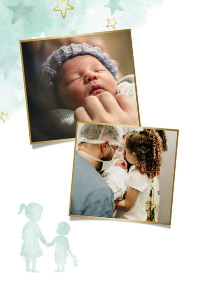 Danksagung Taufe grün kleiner Bruder große Schwester 2