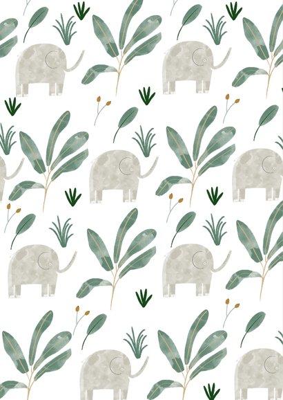 Danksagung Taufe klassisch kleine Elefanten Foto 2