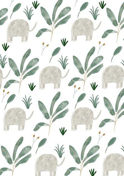 Danksagung Taufe klassisch kleine Elefanten Foto Rückseite