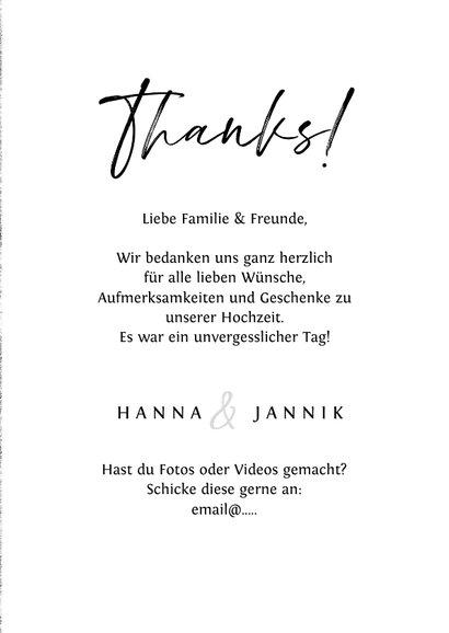 Danksagung 'thanks' mit eigenem Foto und Unterwasserwelt 3