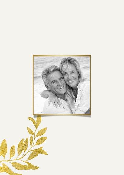 Danksagung zum Hochzeitstag goldene Blätter 2