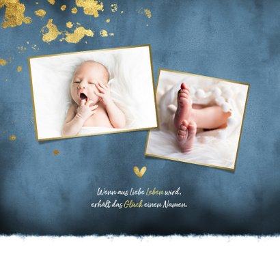 Danksagung zur Geburt dunkelblau Fotos Goldlook 2