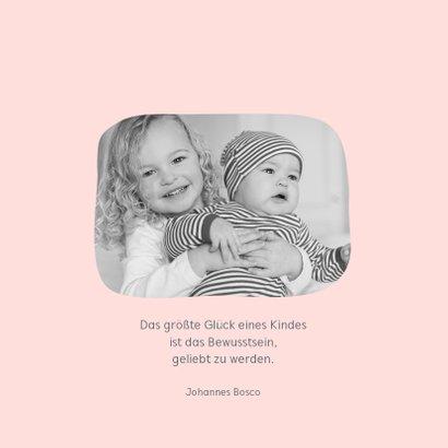 Danksagung zur Geburt Eulengeschwister Schwester Foto innen 2