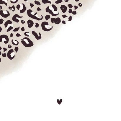 Danksagung zur Geburt Fotos, Anhänger & Leopardenprint Rückseite