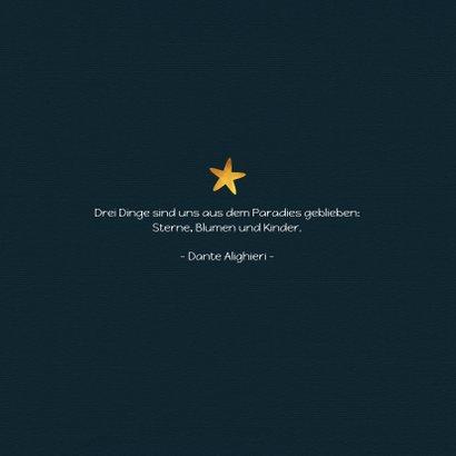 Danksagung zur Geburt mit Foto und Sternen 2