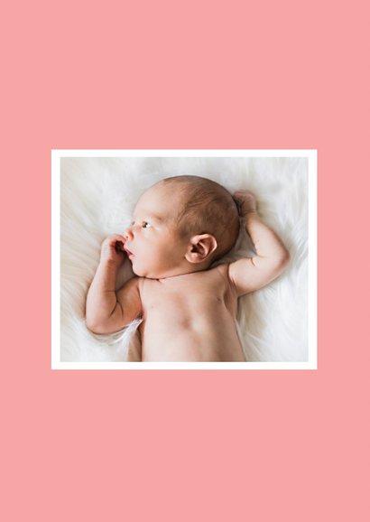 Danksagung zur Geburt Poster grafisch rosa mit Foto  2