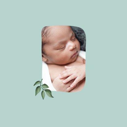 Danksagung zur Geburt Tiere Junge/Mädchen Foto innen 2