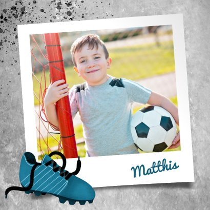Danksagung zur Kommunion Foto & Fußball 2