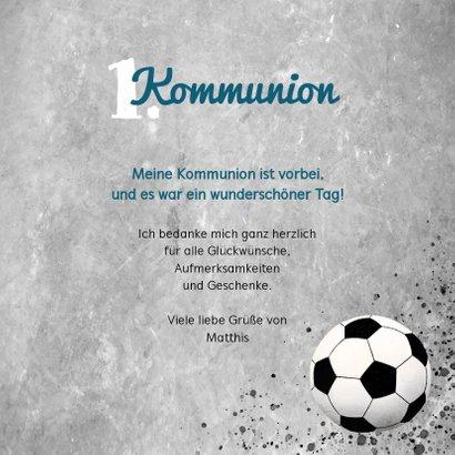 Danksagung zur Kommunion Foto & Fußball 3