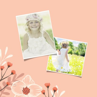 Danksagung zur Kommunion Foto und Blumen  2