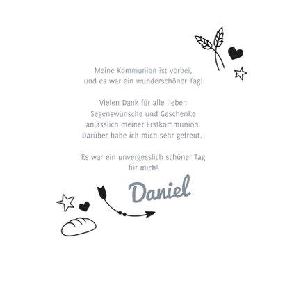 Danksagung zur Kommunion Foto und Doodles 3