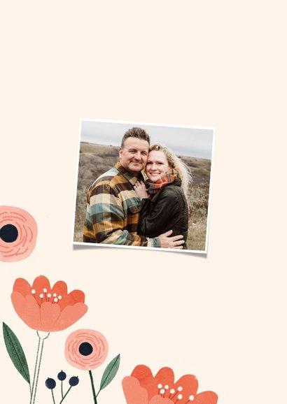 Danksagung zur Rosenhochzeit Rose und Blumen 2