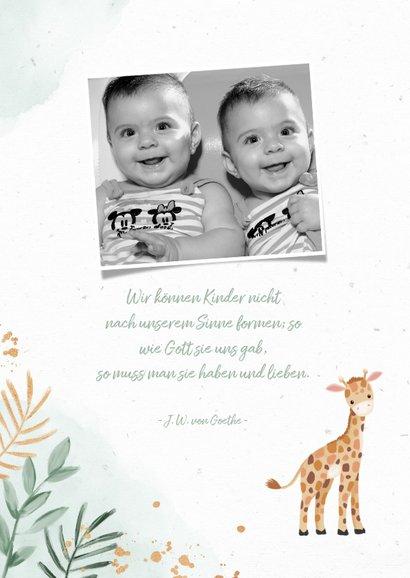 Danksagung Zwillinge Fotos niedliche Giraffen 2