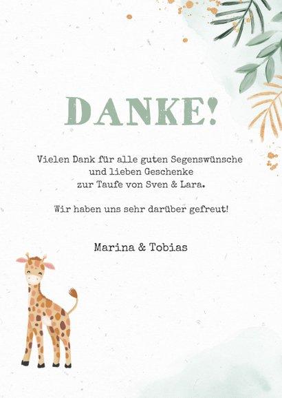 Danksagung Zwillinge Fotos niedliche Giraffen 3