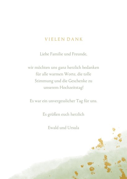 Danksagungskarte Hochzeitsjubiläum 2 Fotos 3
