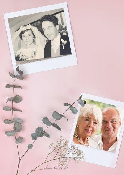 Danksagungskarte Hochzeitstag Fotos & Rose 2