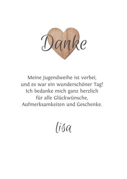 Danksagungskarte Jugendweihe Fotos & Herzen 3