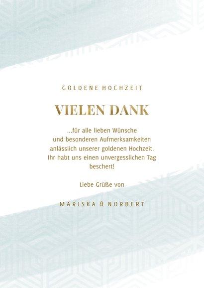 Danksagunskarte Goldene Hochzeit 2 Fotos 3