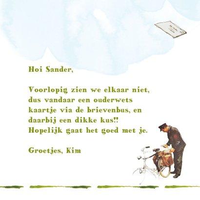De postbode brengt een ouderwets kaartje met een kus 3