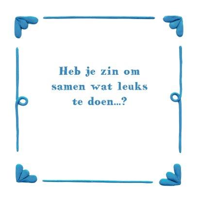 Delfts Blauwe Ballonnen Liefde kaart 3