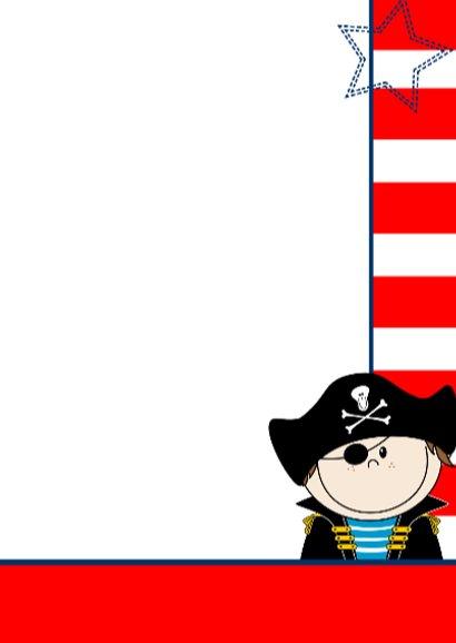 Deurhanger piraat uitnodiging 3