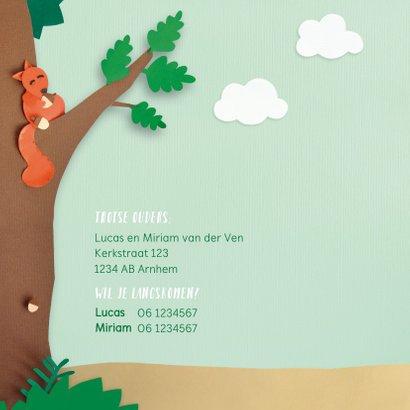 Dieren in het bos met vosje geboortekaartje 2