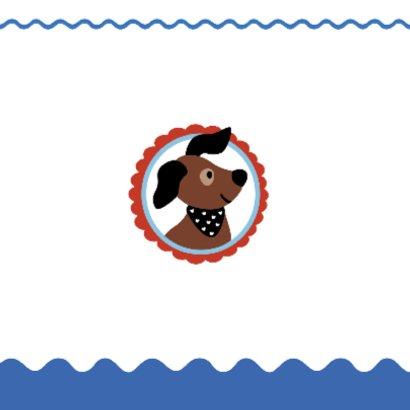 Dierenkaart-Hondje vangt bal-HK 2