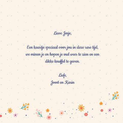 Dikke knuffel - flowers and dots - zomaar kaart 3